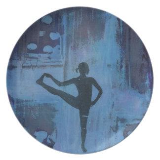 I Keep My Balance Yoga Girl Plate