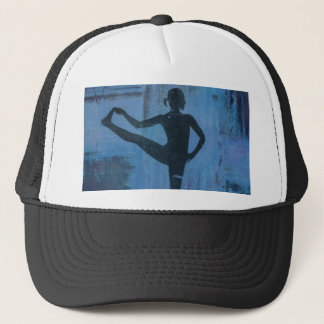 I Keep My Balance Yoga Girl Trucker Hat