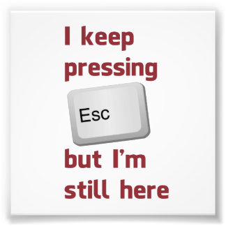 I Keep Pressing The Escape Key But I'm Still Here Photo Art
