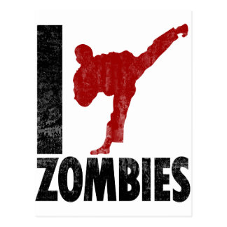 I Kick Zombies Postcard