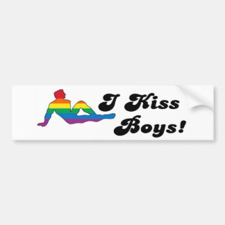 I Kiss Boys Bumper Sticker