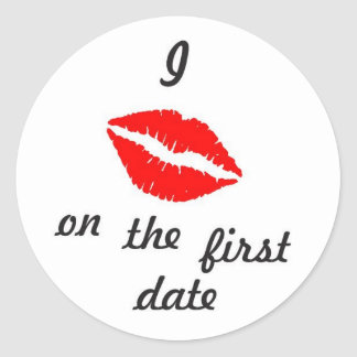 I Kiss on the first date sticker