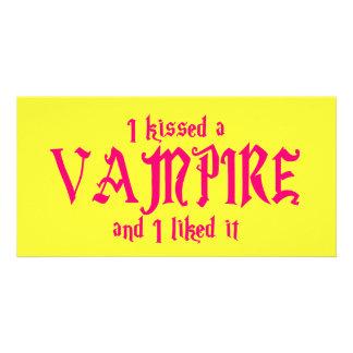 I Kissed A Vampire and I liked it Custom Photo Card