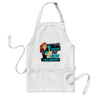I Knocked Out Hereditary Breast Cancer Aprons