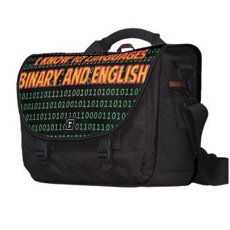I know 10 languages! laptop bag