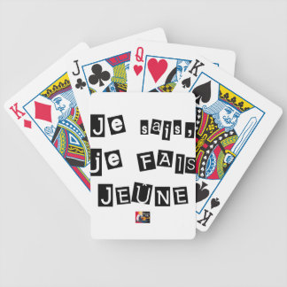 I know, I FAIS FAST - Word games Bicycle Playing Cards