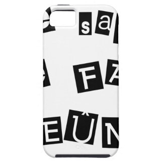 I know, I FAIS FAST - Word games Case For The iPhone 5