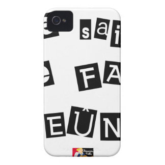 I know, I FAIS FAST - Word games iPhone 4 Case