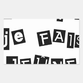 I know, I FAIS FAST - Word games Rectangular Sticker