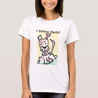 I know Jack! Funny Cartoon Jack Russell Dog T-Shirt