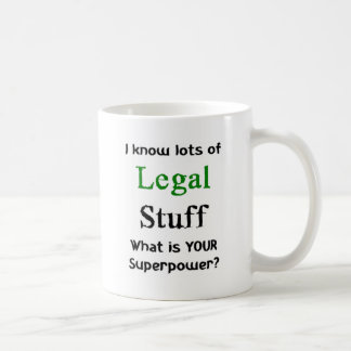 i know lots of legal stuff coffee mug