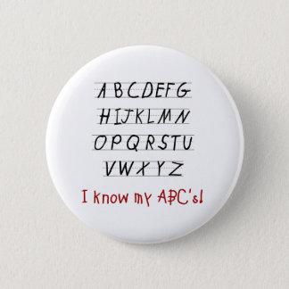 I Know My ABCs 6 Cm Round Badge