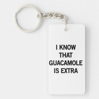 I Know that Guacamole is Extra Key Ring