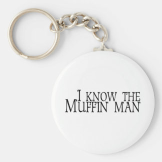 I Know The Muffin Man Basic Round Button Key Ring