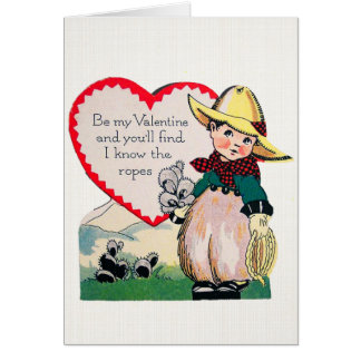 I Know The Ropes - Vintage Valentine Card