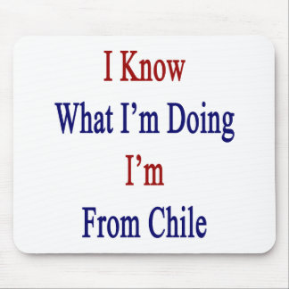 I Know What I m Doing I m From Chile Mousepads