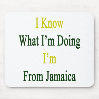 I Know What I m Doing I m From Jamaica Mouse Pad