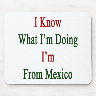 I Know What I m Doing I m From Mexico Mousepad