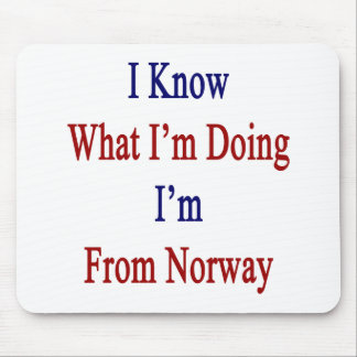 I Know What I m Doing I m From Norway Mousepads