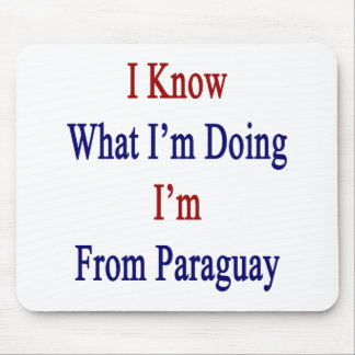 I Know What I m Doing I m From Paraguay Mousepads