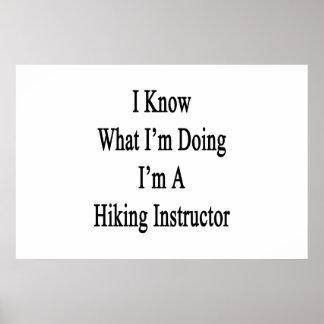 I Know What I'm Doing I'm A Hiking Instructor Print