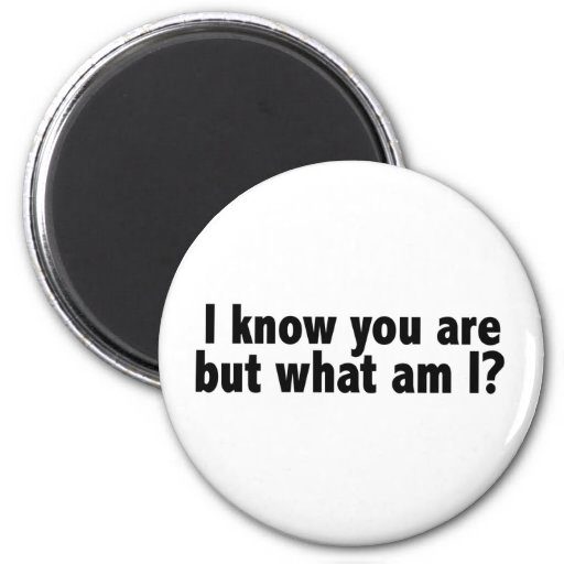 I Know You Are What Am I Fridge Magnets