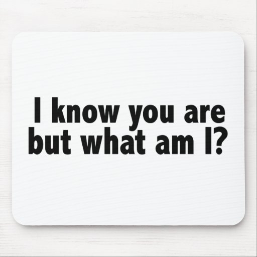 I Know You Are What Am I Mouse Mats