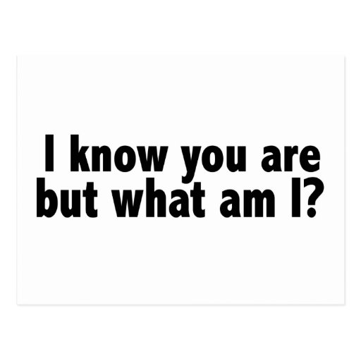 I Know You Are What Am I Post Cards