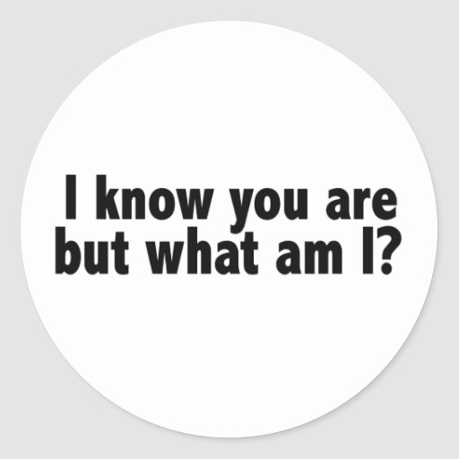 I Know You Are What Am I Stickers