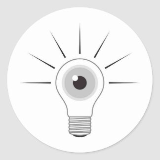 I - LAMP CLASSIC ROUND STICKER