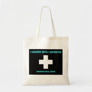 I Laughed Until I Aspirated Budget Tote Bag