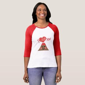 I Lava You Volcano Heart Sweet Pun Shirt