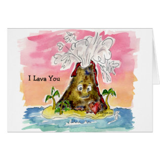 I Lava You Volcano Valentine Card