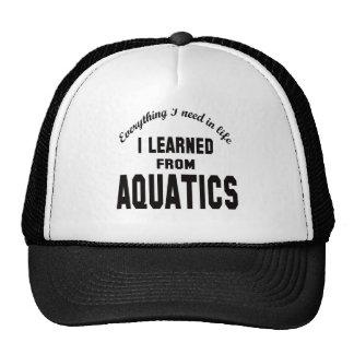 I Learned From Aquatics. Mesh Hat