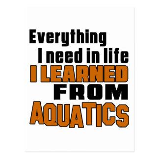 I learned From Aquatics Postcard