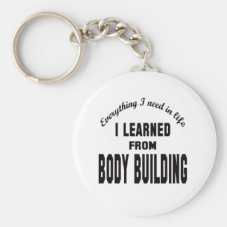I Learned From Body Building. Keychain