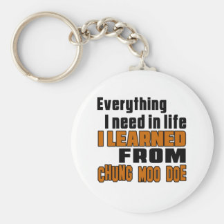 I learned From Chung Moo Doe Basic Round Button Key Ring