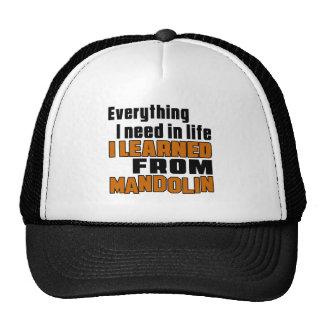 I Learned From Mandolin Cap