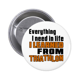I learned From Triathlon 6 Cm Round Badge