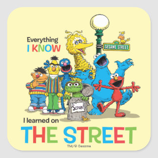 I learned on THE STREET Square Sticker