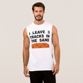 I Leave 3 Tracks In The Sand Sleeveless Shirt