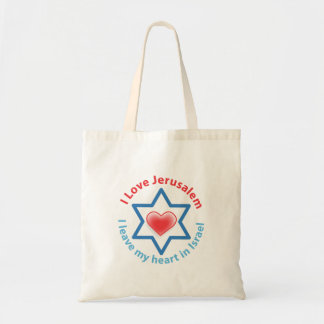 I Leave my heart in Israel - I love Jerusalem Tote Bag