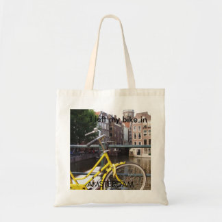 I left my bike in AMSTERDAM Tote Bag