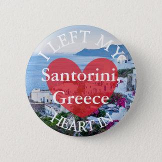 I Left my Heart at Santorini Greece Button
