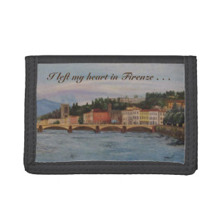 """I left my heart in Firenze"" Nylon Wallet"