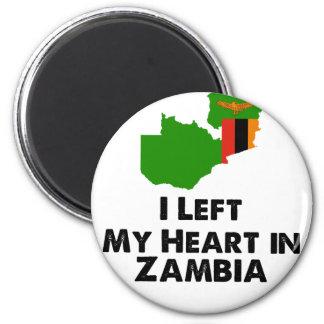 I Left My Heart in Zambia Magnet