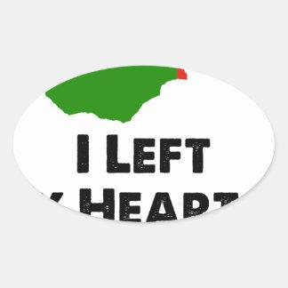 I Left My Heart in Zambia Oval Sticker