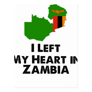 I Left My Heart in Zambia Postcard