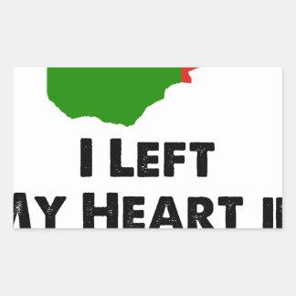 I Left My Heart in Zambia Rectangular Sticker