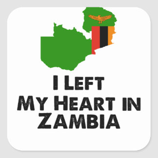 I Left My Heart in Zambia Square Sticker